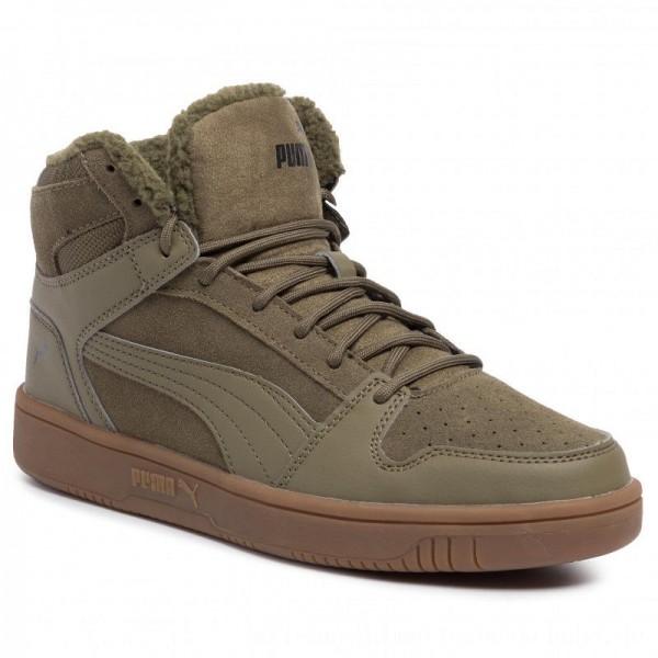 Puma Sneakers Rebound LayUp SD Fur 369831 03 Burnt Olive/Puma Black/Gum [Sale]