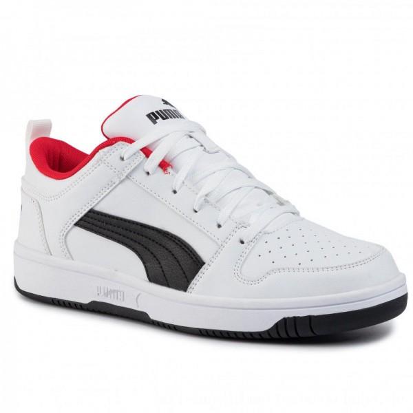 [BLACK FRIDAY] Puma Sneakers Rebound Layup Lo Sl 369866 01 White/Black/High Risk Red