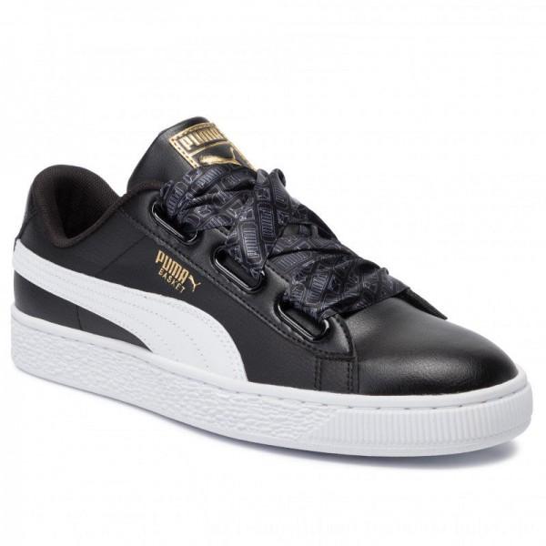 Puma Sneakers Basket Heart Reinvent Wn's 369935 02 Black/Puma Black [Outlet]