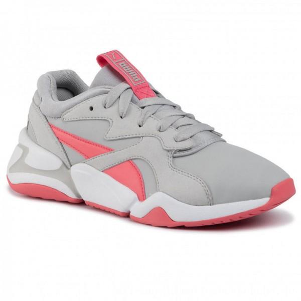 Puma Sneakers Nova Core Sl Jr 370129 02 Gray Violet/Calypso Coral [Outlet]