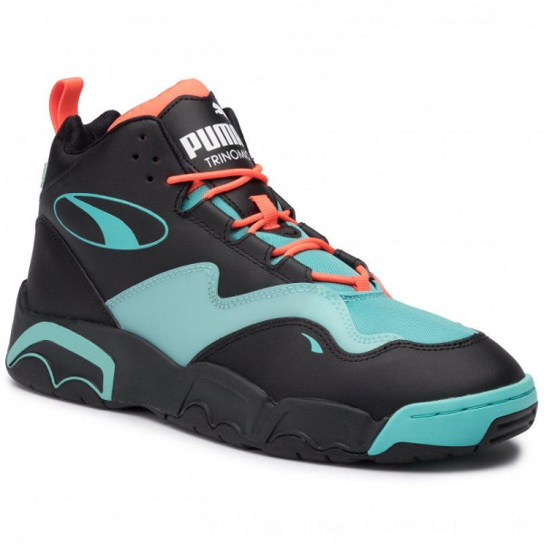 Puma Sneakers Source Mid Buzzer 370598 01 P Blk/Nrgy Red/Blue Turquoise [Outlet]