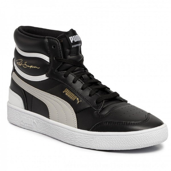 Puma Sneakers Ralph Sampson Mid 370847 01 Black/Gray Violet/Puma White [Outlet]
