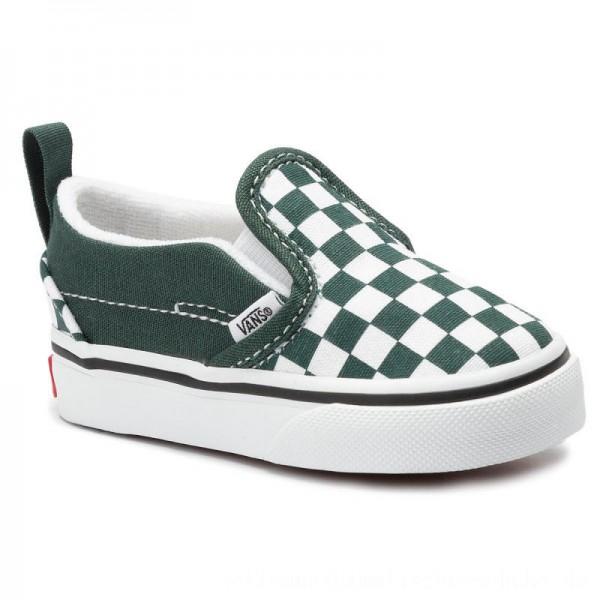Vans Turnschuhe Slip-On V VN0A3488V4D1 (Checkerboard) Trkngrtrwht [Sale]