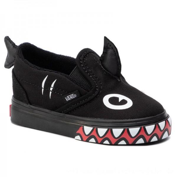Vans Turnschuhe Slip-On V VN0A3488V4H1 (Shark Week) Phin/Black [Outlet]