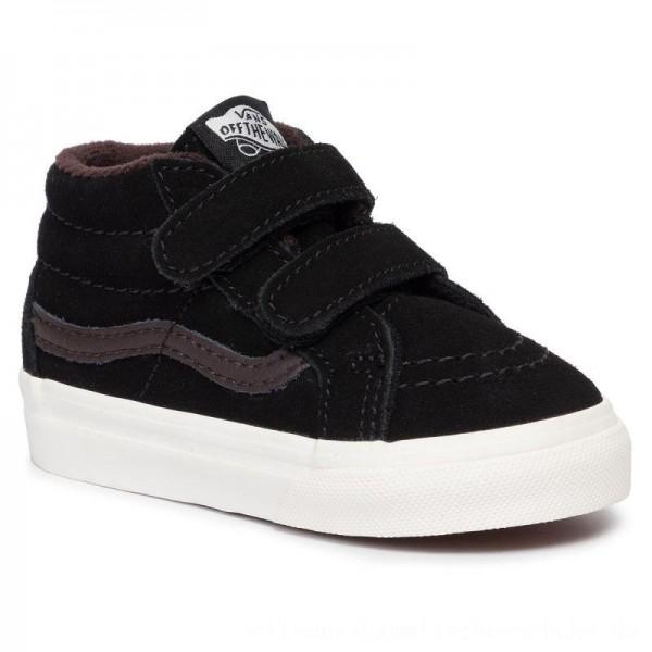 Vans Sneakers Sk8-Mid Reissue V VN0A348JV3Z1 (Mte) Blk/Chocolate Torte [Sale]