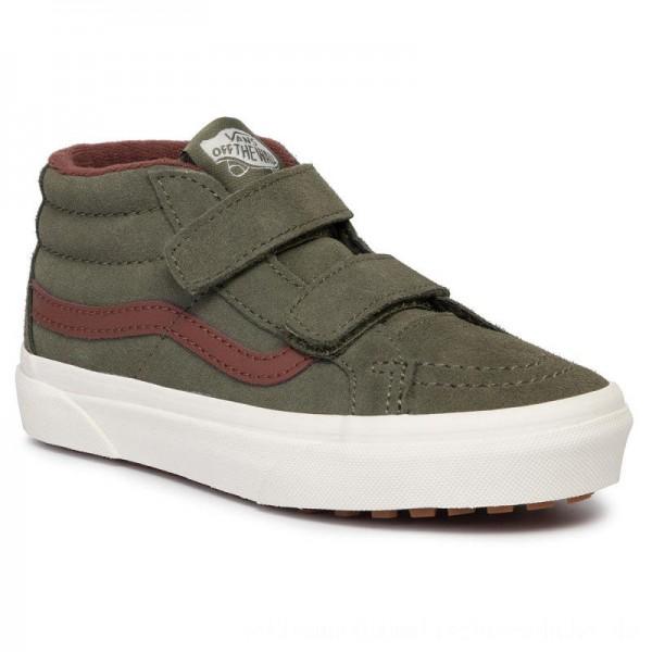 Vans Sneakers Sk8-Mid Reissue V VN0A3TL4V401 (Mte) Deep Lichen Gr/Rt Br [Sale]