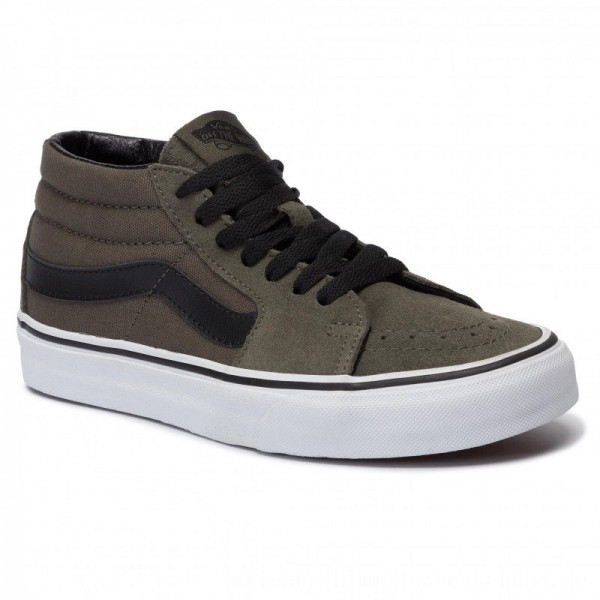 Vans Sneakers Sk8-Mid VN0A3WM30FI1 Grape Leaf/True White [Outlet]