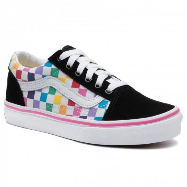 Vans Turnschuhe Old Skool VN0A4BUUU091 (Checkerboard) Rainbow/Tr [Sale]