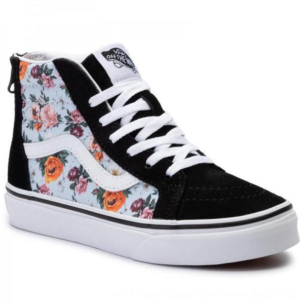 Vans Sneakers Sk8-Hi Zip VN0A4BUXV3F1 (Garden Floral) True Wht [Sale]