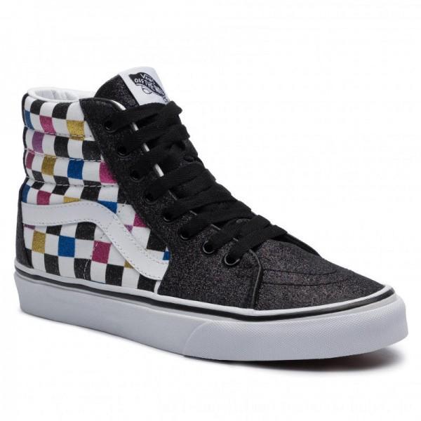Vans Sneakers Sk8-Hi VN0A4BV6V3P1 (Glitter Chkrbrd) Blktrwht [Sale]