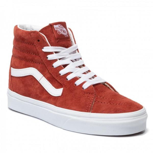 Vans Sneakers Sk8-Hi VN0A4BV6V751 (Pig Suede) Brnt Brcktrwht [Sale]