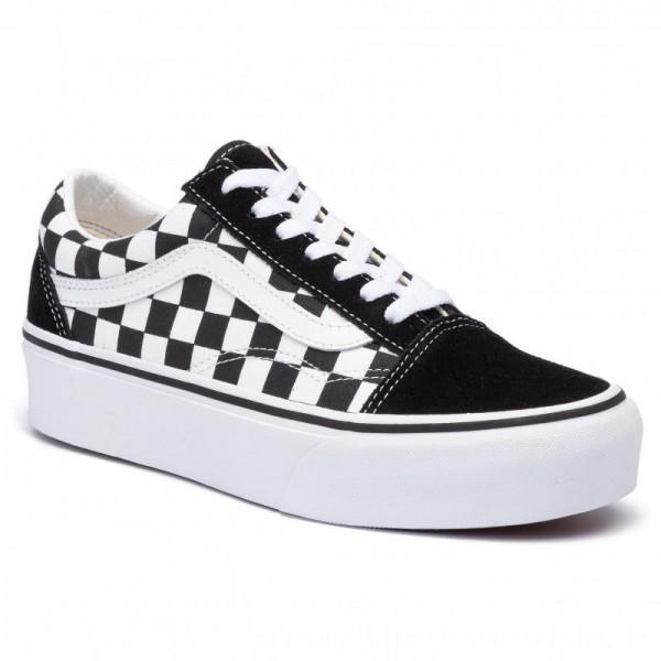 Vans Turnschuhe VN0A3B3UHRK1 (Checkerboard) Blk/Tr Wht [Sale]