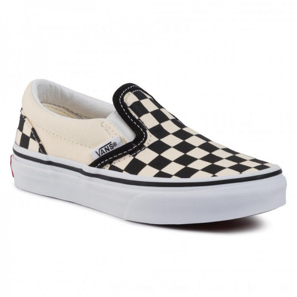 Vans Turnschuhe Classic Slip-On VN000ZBUEO11 (Checkerboard) Black/Wht [Outlet]