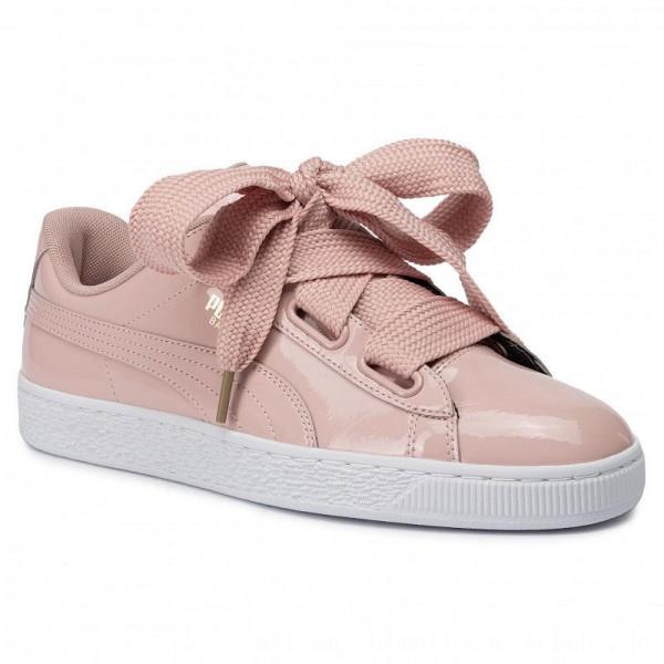 Puma Sneakers Basket Heart Patent Wn's 363073 11 Peach Beige/Peach Beige [Outlet]