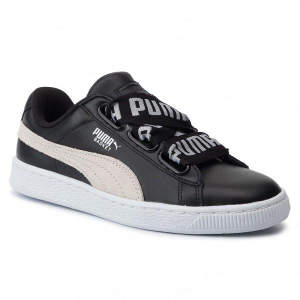 Puma Sneakers Basket Heart De Wn's 364082 01 Black/Puma White [Sale]