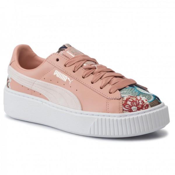 Puma Sneakers Platform Hyper Emb Wn's 366123 02 Peach Beige [Outlet]