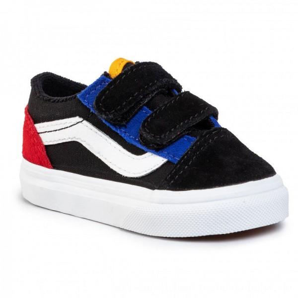 Vans Turnschuhe Old Skool V VN0A38JNVIG1 (Color Block)Black/True [Sale]
