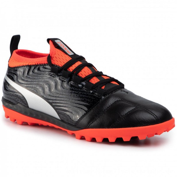 Puma Schuhe One 18.3 Tt 104542 01 Black/Silver/Red [Outlet]