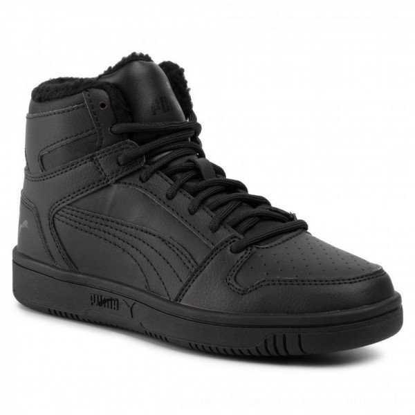 Puma Sneakers Rebound Layup Sl Fur Jr Black/Puma Black [Sale]